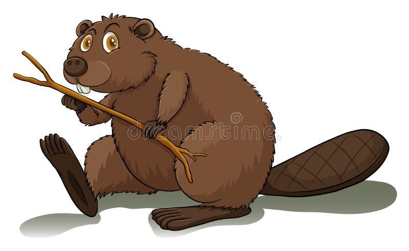 Um castor ansioso ilustração royalty free