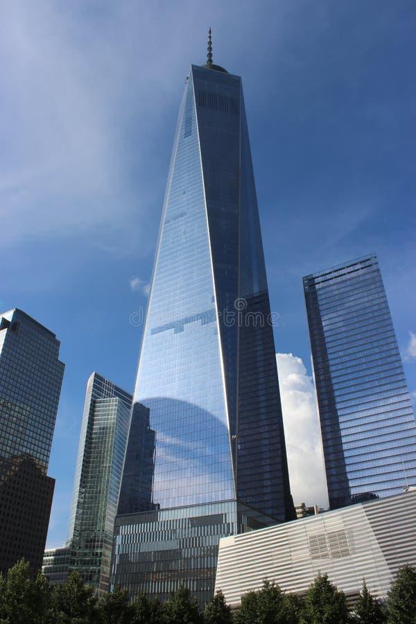 Um centro do comércio mundial, New York fotos de stock