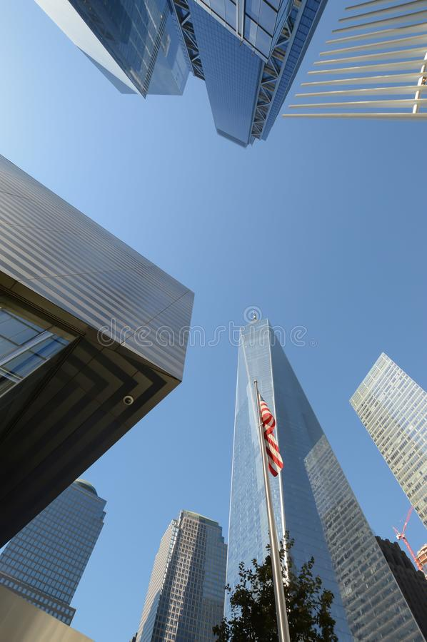 Um centro New York do comércio mundial foto de stock
