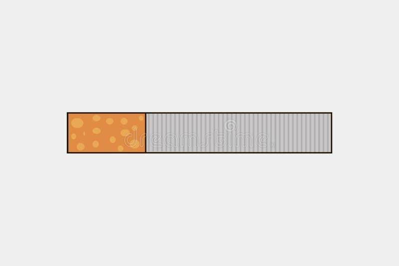 Um cigarro com um filtro amarelo Ilustração do vetor ilustração royalty free