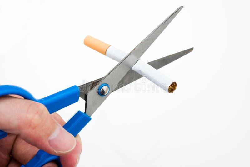 Um cigarro da estaca da mão foto de stock royalty free