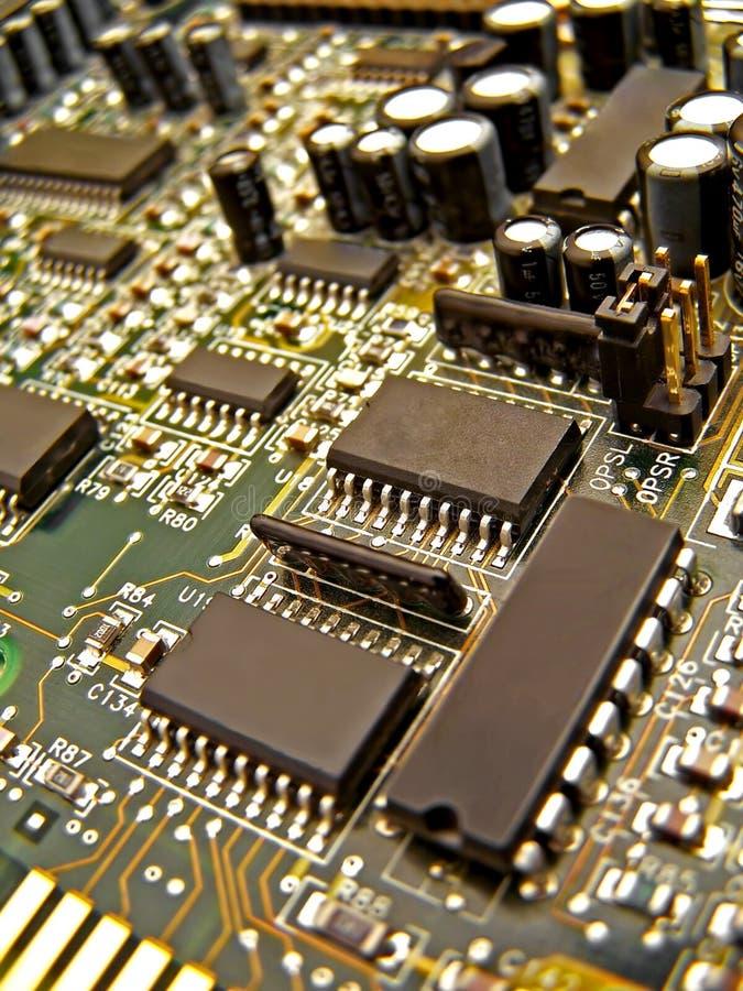 Um circuito eletrônico fotos de stock