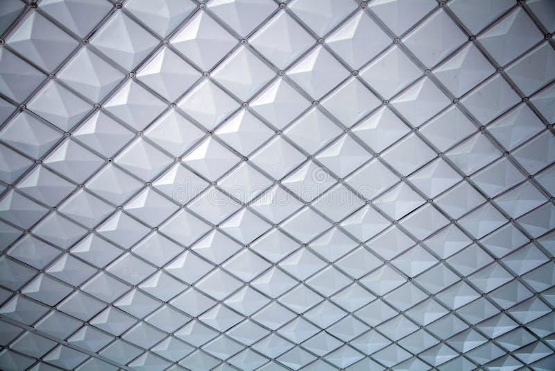 Um close-up de um teto cinzento-branco fotografia de stock royalty free