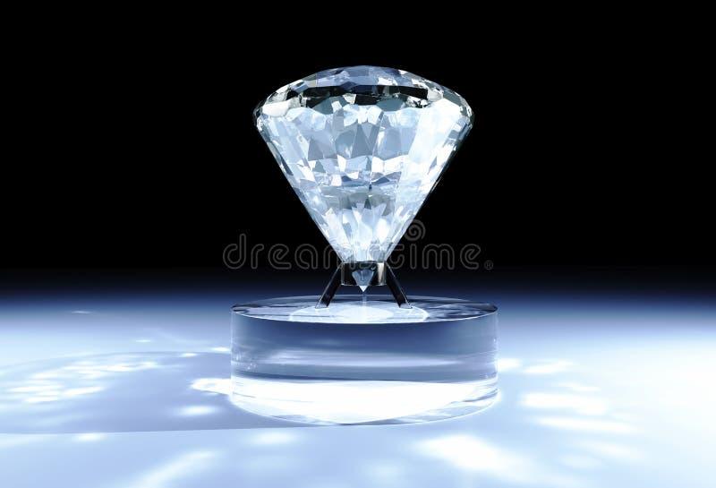 Diamante no apoio cilíndrico ilustração stock