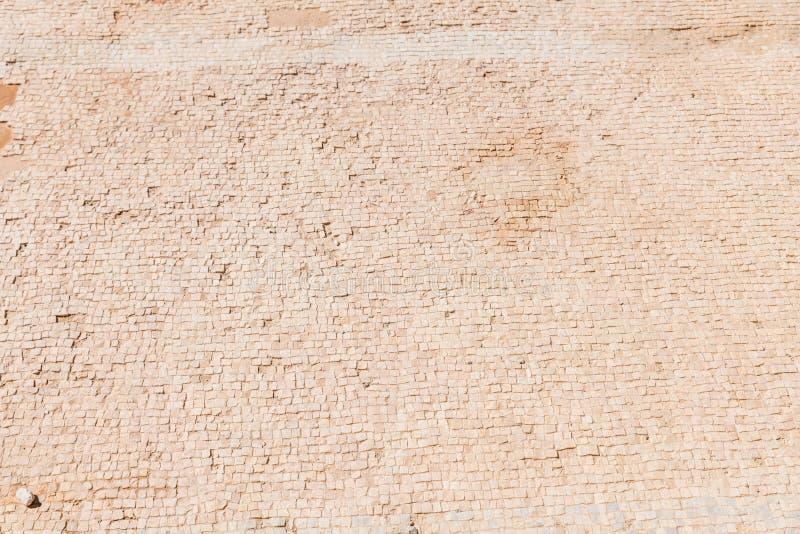 Um close up do assoalho velho no masada imagens de stock royalty free