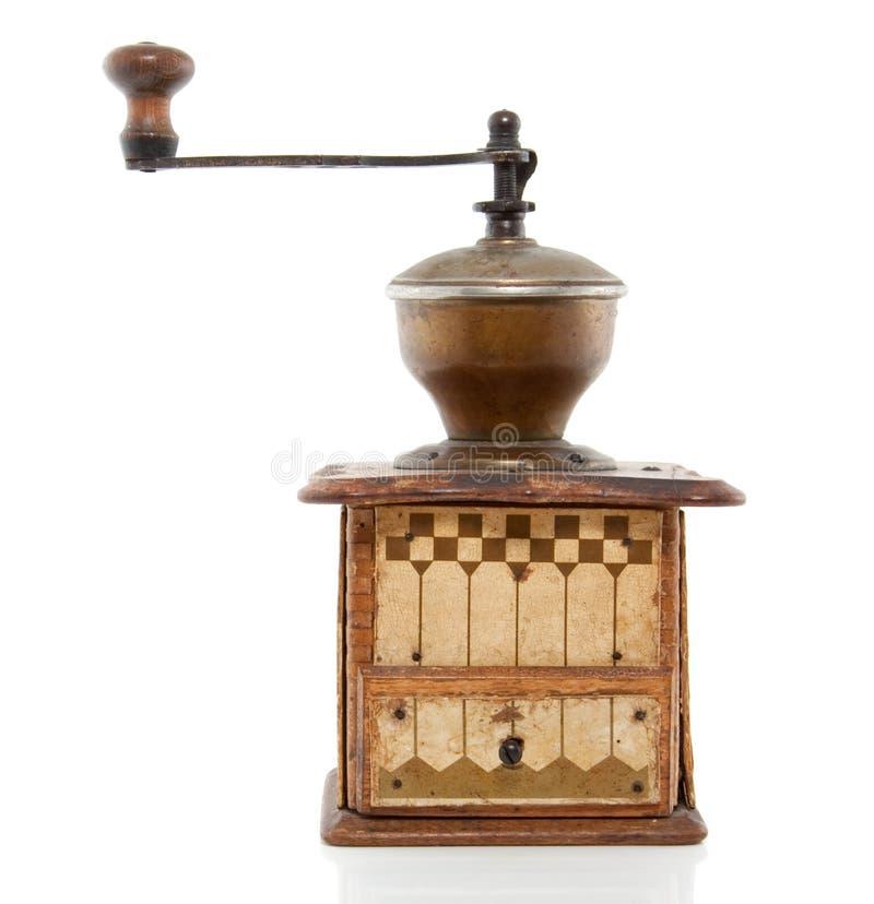 Um coffeegrinder antigo imagens de stock royalty free