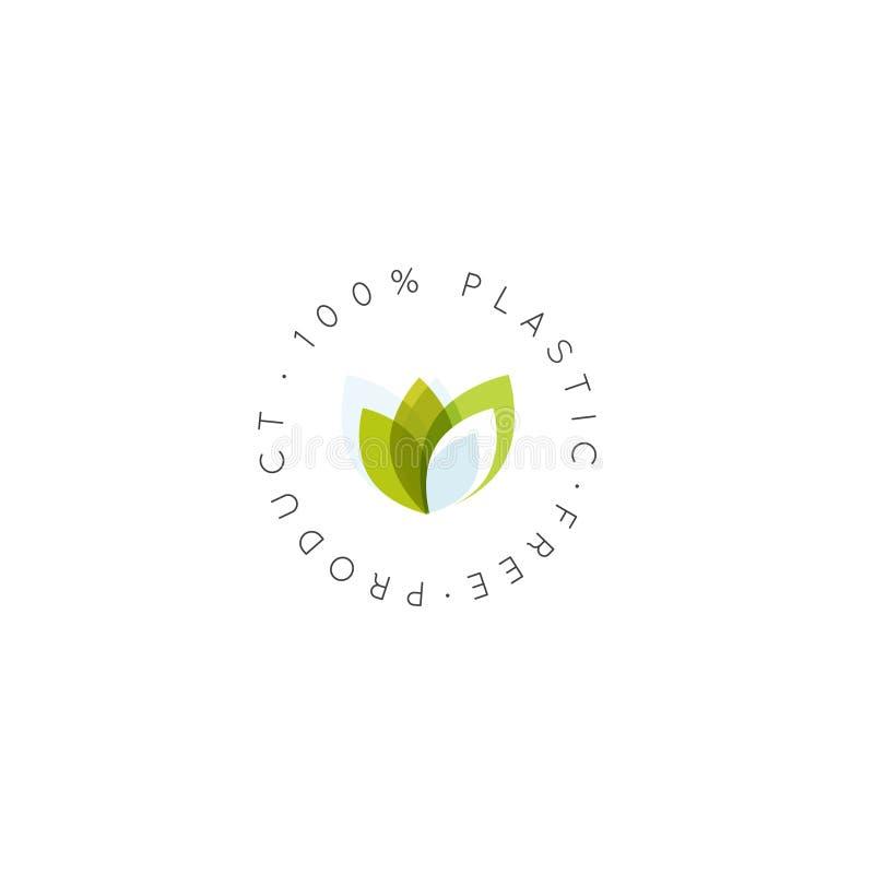 Um conceito biodegradável livre plástico de 100 por cento ilustração royalty free