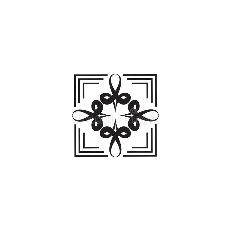 Um conceito cúbico do ornamento floral ilustração royalty free