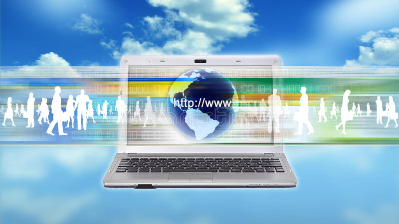 Trabalhador do negócio do Internet imagem de stock