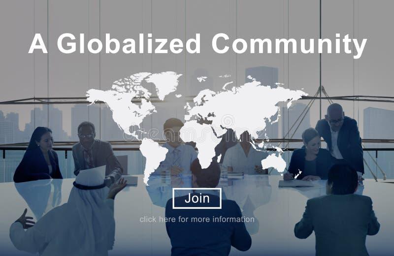 Um conceito mundial Globalized da rede da conexão da comunidade fotografia de stock