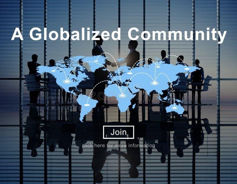 Um conceito mundial Globalized da rede da conexão da comunidade fotografia de stock royalty free