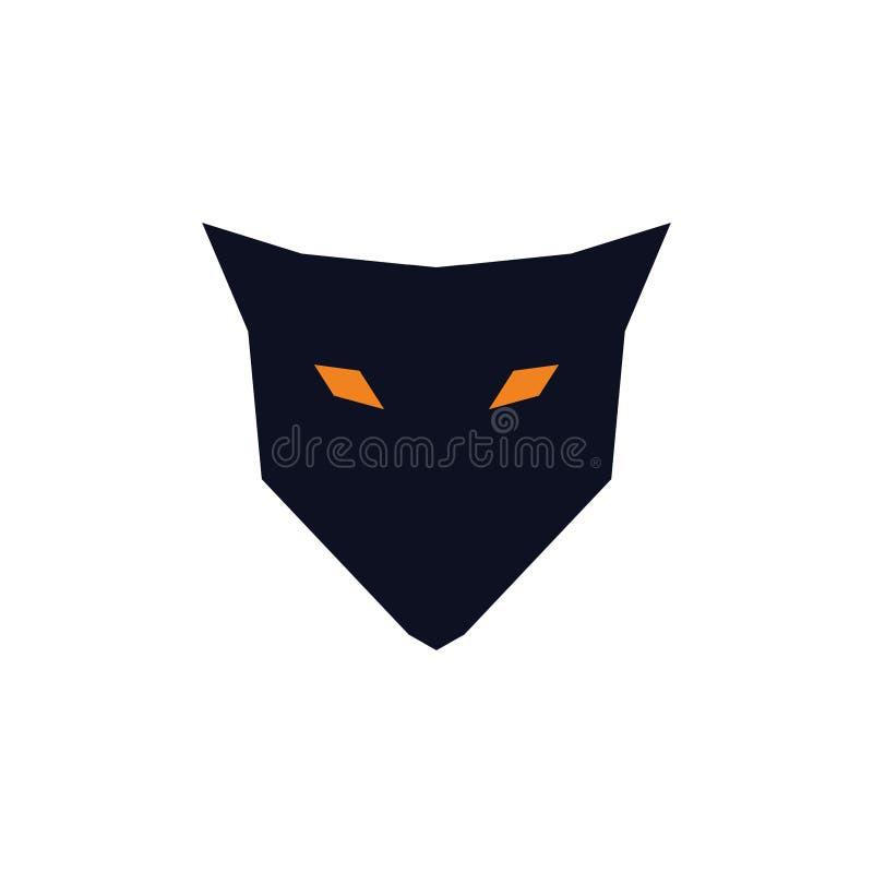 Um conceito simples do logotipo da raposa ilustração do vetor