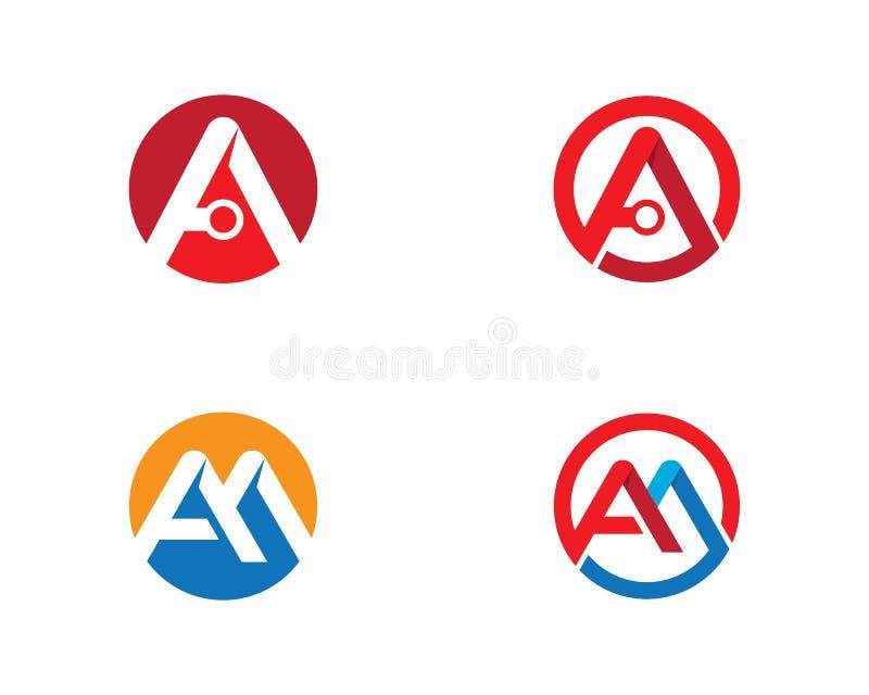 Um ?cone do vetor do logotipo da letra ilustração stock