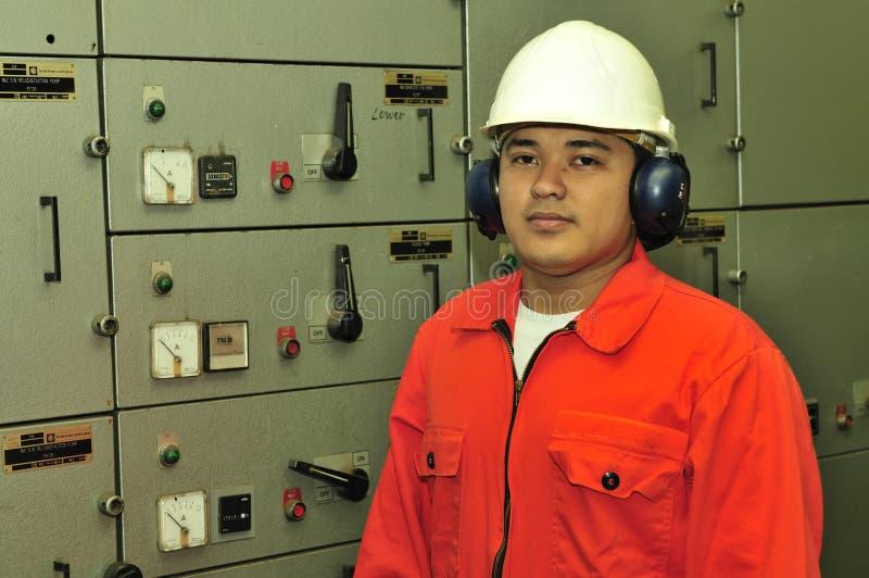 Um coordenador do transporte imagens de stock