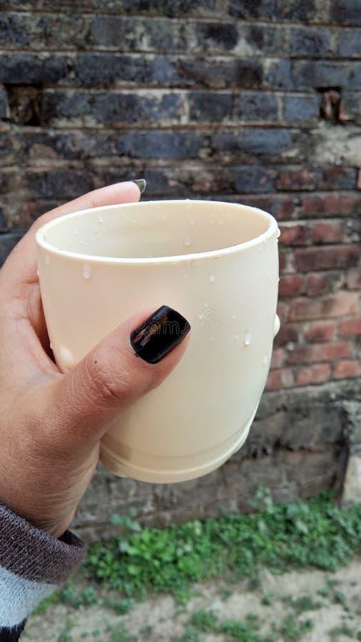 Um copo fotografia de stock