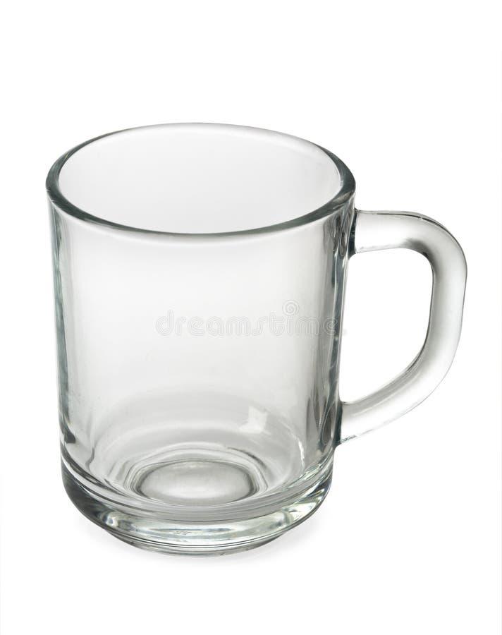 Um copo de chá vazio imagens de stock