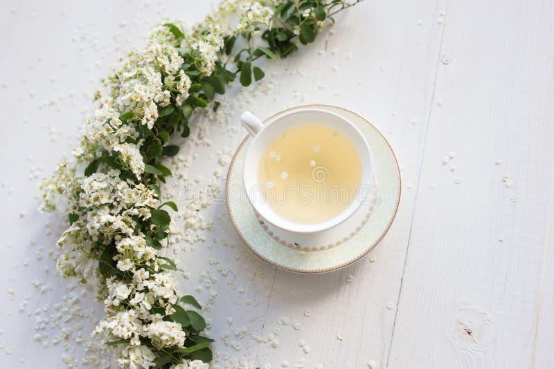 Um copo delicado do vintage rosas Configuração lisa imagem de stock royalty free