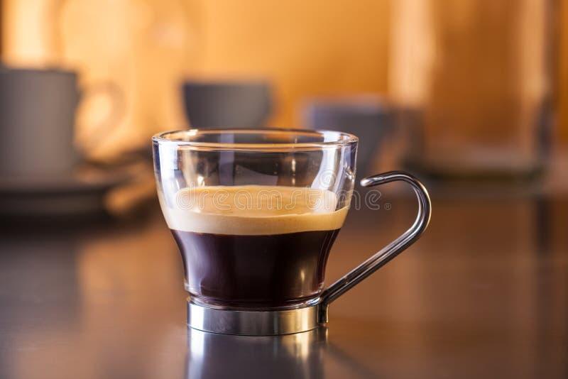 Um copo do café italiano do ristretto imagem de stock royalty free
