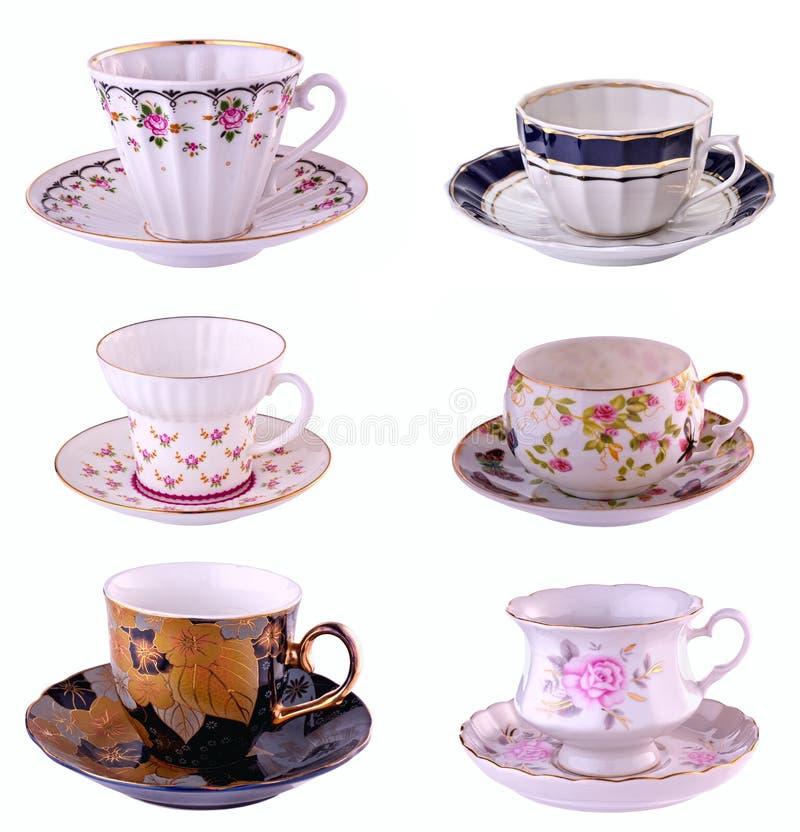 Um copo do chá em um fundo branco fotografia de stock