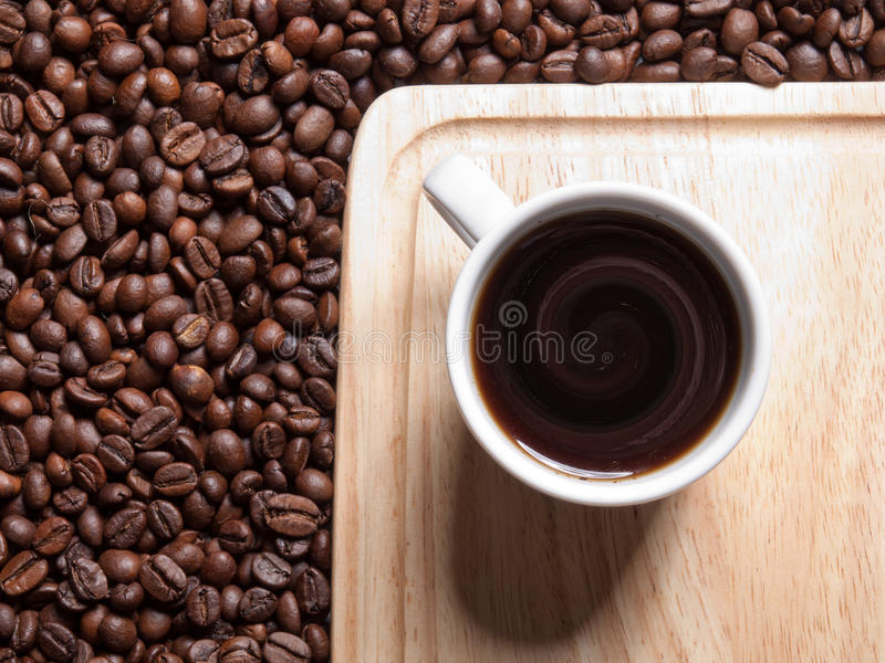 Um copo do coffe imagem de stock