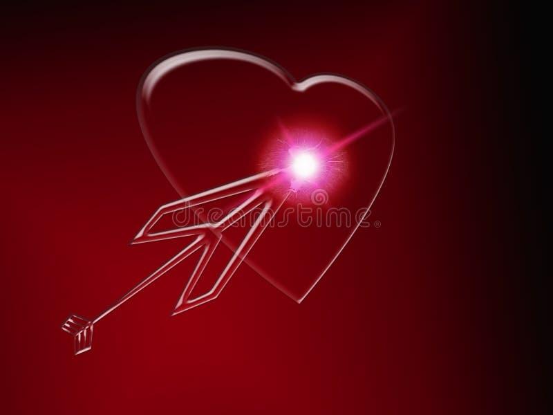 Um coração de vidro ilustração do vetor