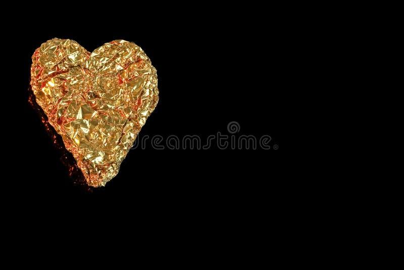 Um coração dourado no lado esquerdo. fotografia de stock royalty free