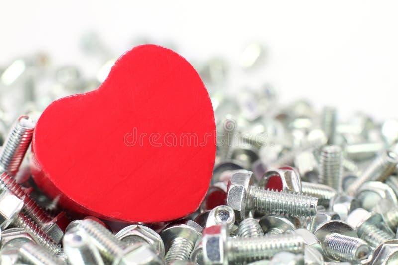 Um coração para os parafusos fotos de stock royalty free