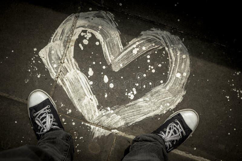 Um coração pintado foto de stock