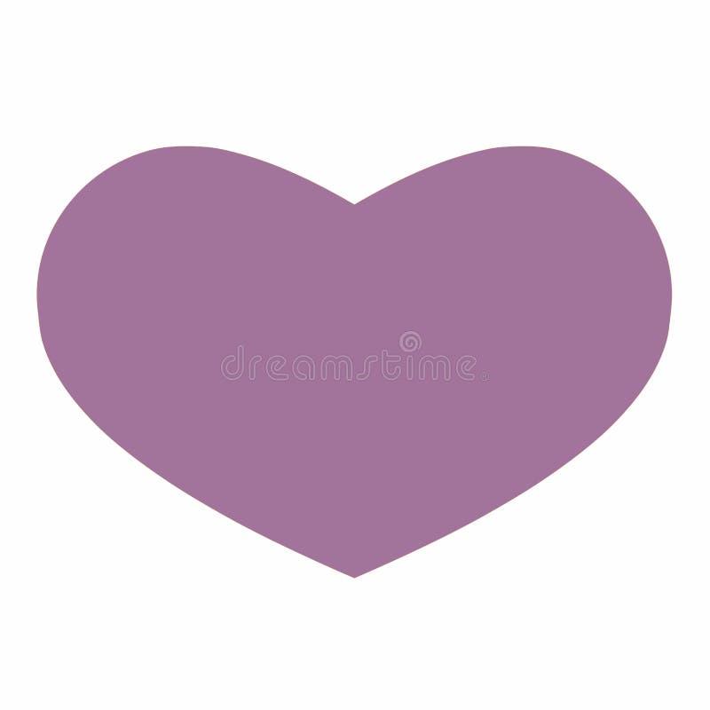 Um coração roxo típico imagens de stock royalty free