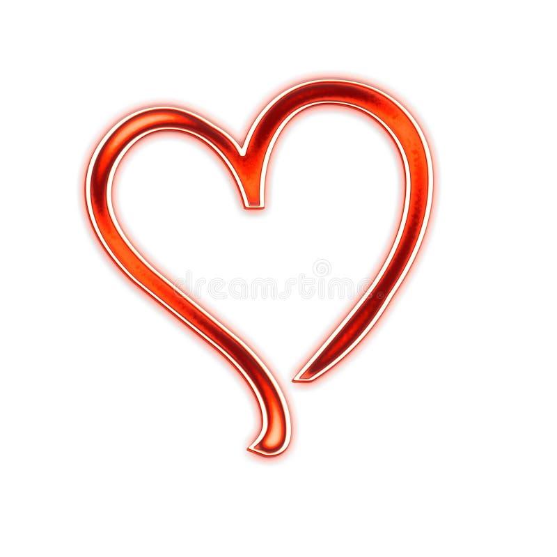 Um coração vermelho grande isolado ilustração royalty free