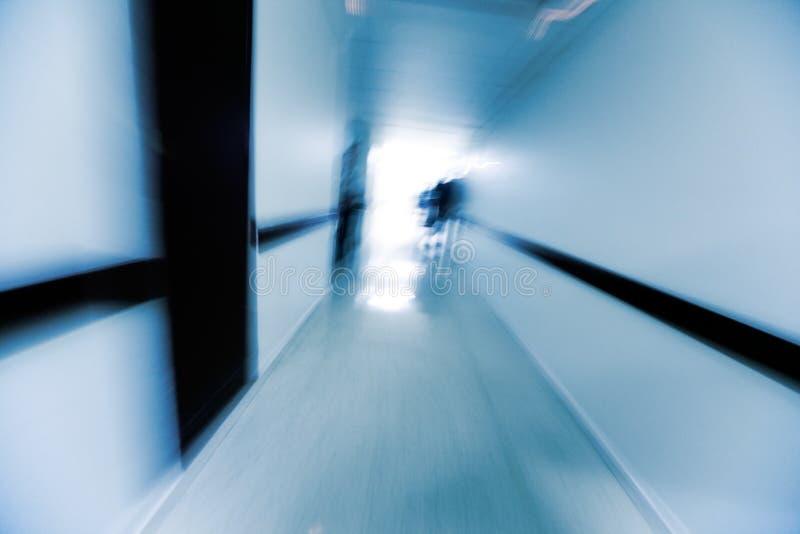 Um corredor do hospital imagens de stock royalty free