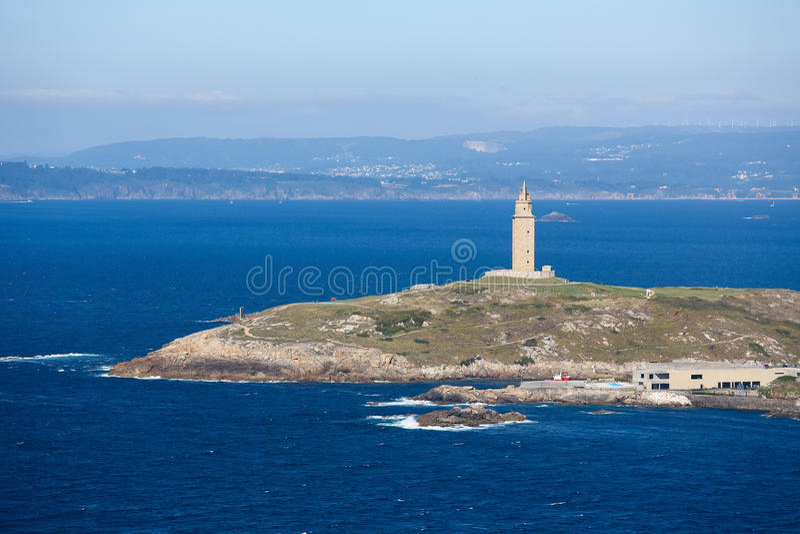 Um Coruna - torre de Hercules fotos de stock royalty free