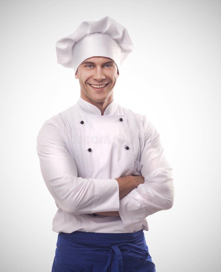 Um cozinheiro chefe masculino foto de stock