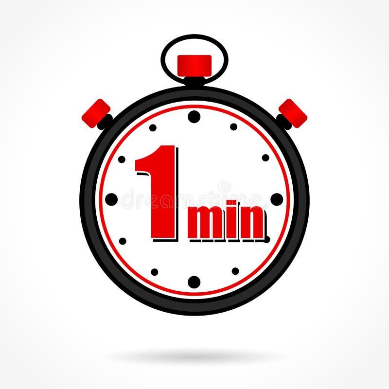 Um cronômetro minuto ilustração do vetor
