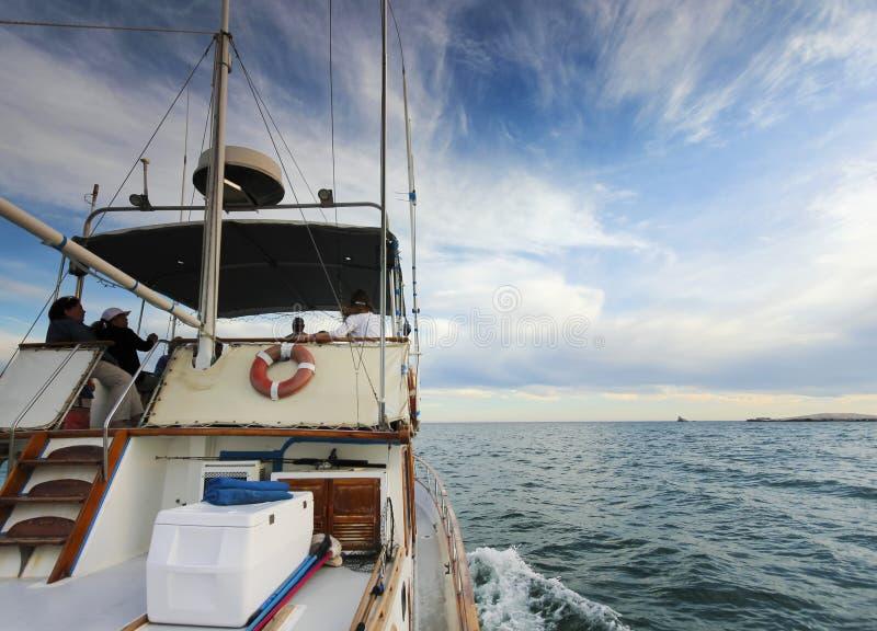 Um cruzeiro a bordo de Hattie Annie em San Carlos Bay, Guaymas, Sonora, foto de stock