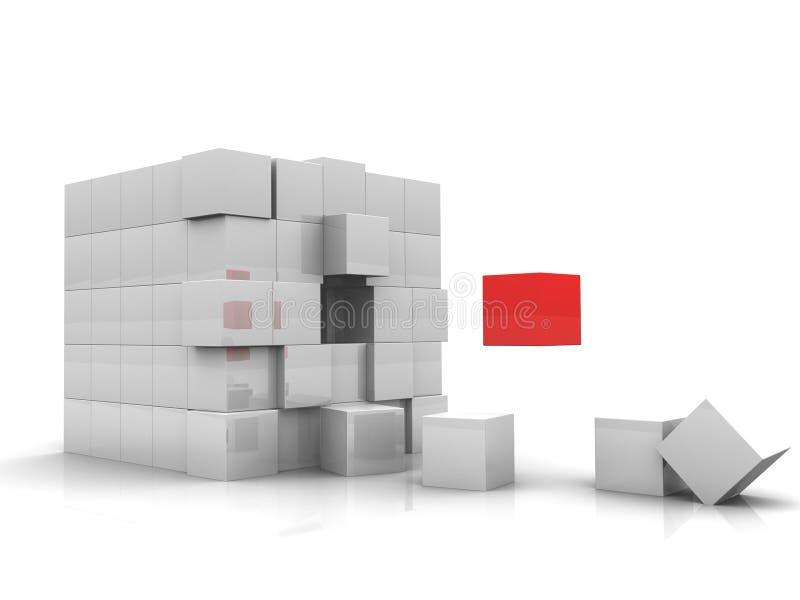Um cubo vermelho ilustração royalty free