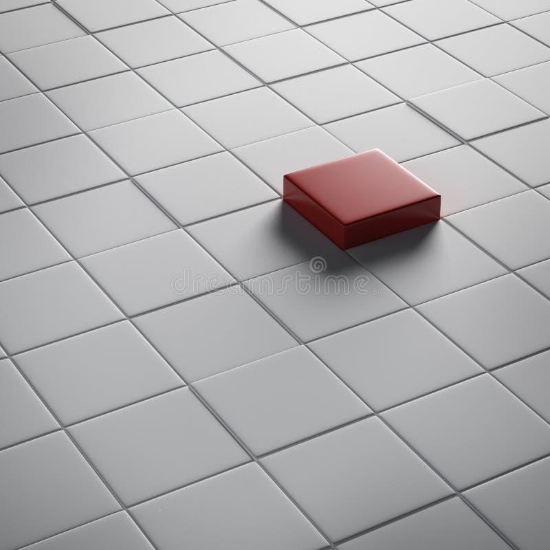 Um cubo vermelho diferente ilustração royalty free
