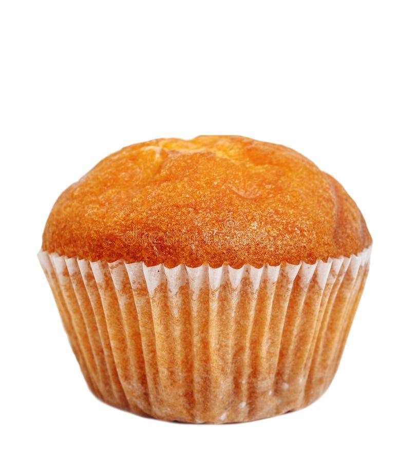 Um cupcake isolado com aspersores em fundo branco Muffin isolado sobre fundo branco fotografia de stock