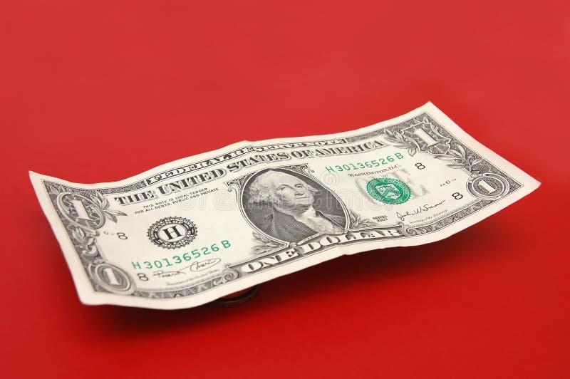Um dólar Bill foto de stock