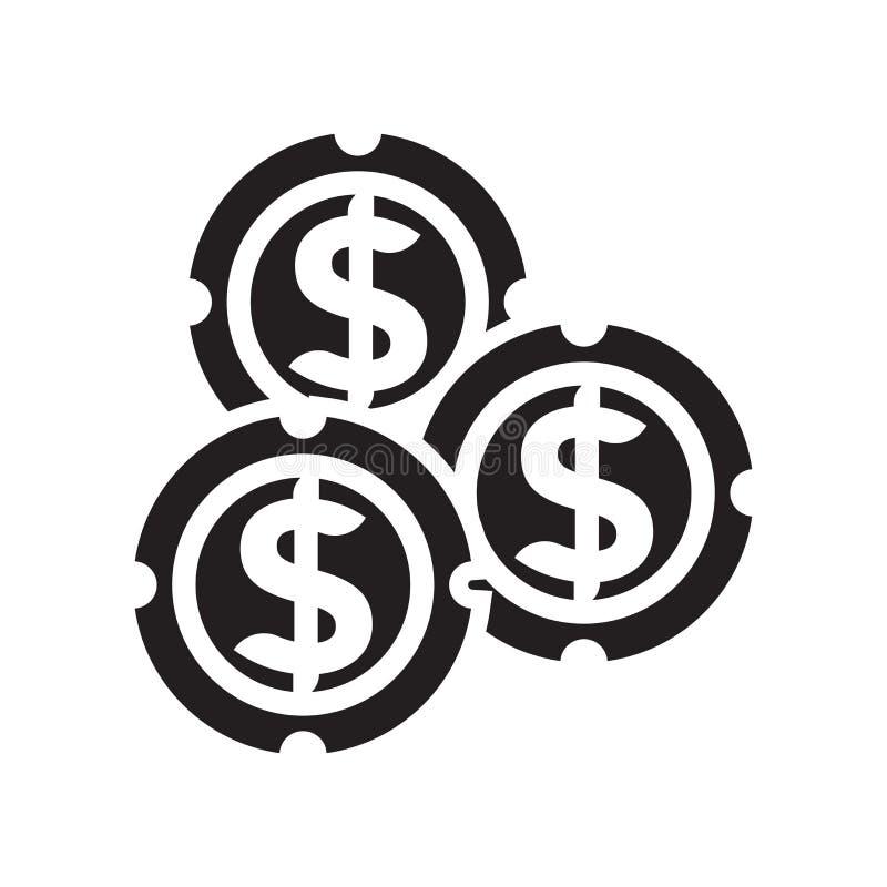 Um dólar inventa o sinal do vetor do ícone e o símbolo isolado no fundo branco, um dólar inventa o conceito do logotipo ilustração royalty free