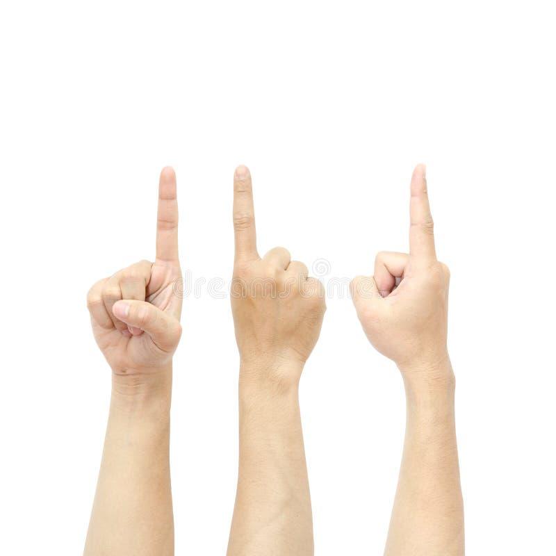 Um dedo imagem de stock royalty free