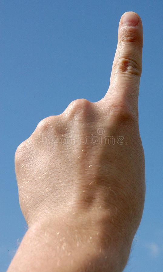 Um dedo imagem de stock