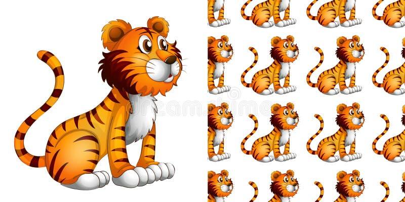 Um desenho animado de padrão animal sem costura e isolado imagem de stock