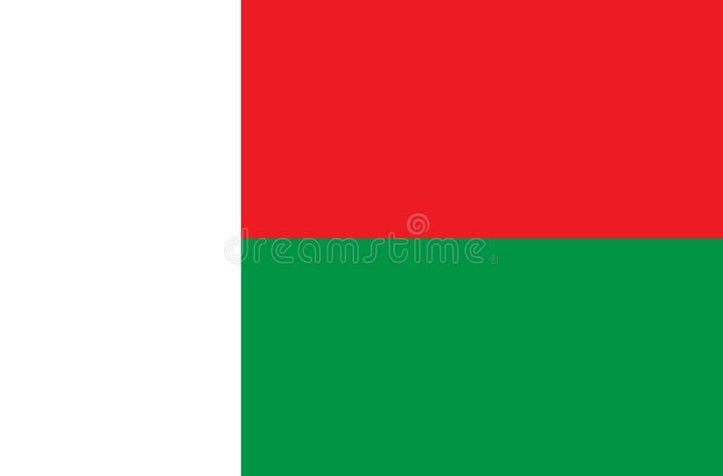 Um desenho ilustrado da bandeira de Madagáscar imagens de stock royalty free