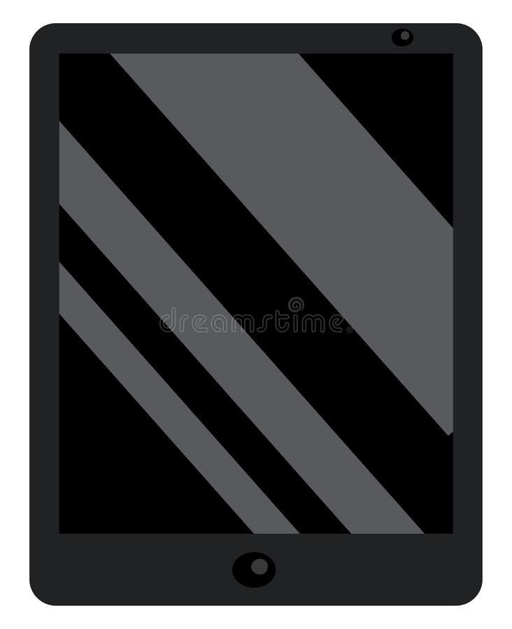 Um desenho ou desenho de cores de vetor de dispositivo de tablet de ecrã preto resistente moderno ilustração do vetor