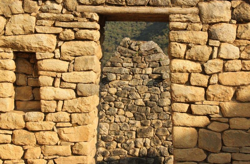 Um detalhe arquitetónico em Machu Picchu foto de stock royalty free