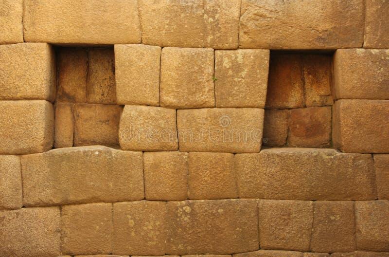Um detalhe arquitetónico em Machu Picchu fotos de stock royalty free