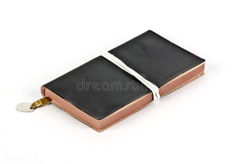 Um diário pessoal com um marcador foto de stock