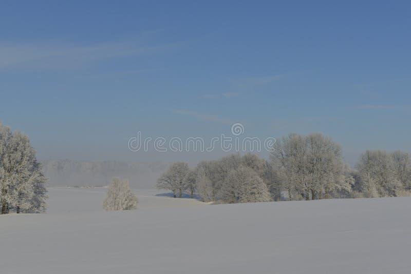 Um dia de inverno frio no saxão foto de stock royalty free