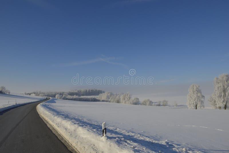 Um dia de inverno frio no saxão imagem de stock